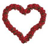 bożego narodzenia serce kwiecisty ramowy Obrazy Royalty Free