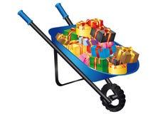 bożego narodzenia wheelbarrow Zdjęcie Stock