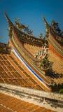 Bo-En tempeltak Detail_3 Arkivfoto