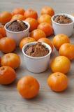 Bożenarodzeniowa babeczka z mandarynkami Fotografia Stock