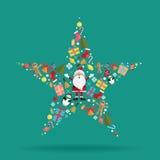 Bożenarodzeniowa dekoraci ikony gwiazda Zdjęcie Royalty Free