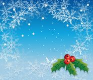 Bożenarodzeniowa dekoraci zimy wakacje wektoru ilustracja Obraz Royalty Free