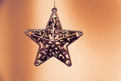 Bożenarodzeniowa dekoracyjna gwiazda Zdjęcie Stock