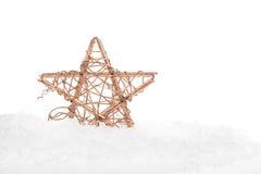 Bożenarodzeniowa dekoracyjna gwiazda Zdjęcia Royalty Free