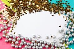 Bożenarodzeniowa dekoracyjna rama Obrazy Stock