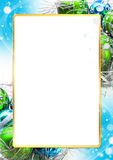 Bożenarodzeniowa jaskrawa kolorowa dekoraci rama Fotografia Royalty Free