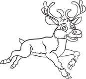 Bożenarodzeniowa jelenia Santa kolorystyki strona fotografia royalty free