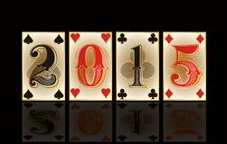 Bożenarodzeniowa kasyno karta, wektor Obrazy Royalty Free
