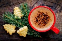 Bożenarodzeniowa kawa Fotografia Stock