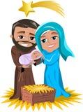 Bożenarodzeniowa narodzenie jezusa scena Obrazy Stock