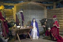Bożenarodzeniowa narodzenie jezusa scena Zdjęcia Royalty Free
