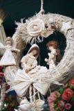 Bożenarodzeniowa narodzenie jezusa sceny dekoracja zdjęcia royalty free