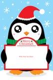 Bożenarodzeniowa pingwin karta Ilustracja Wektor