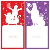 Bożenarodzeniowa Santa Claus karta Ilustracji