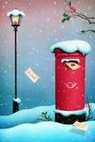 Bożenarodzeniowa skrzynka pocztowa Fotografia Stock