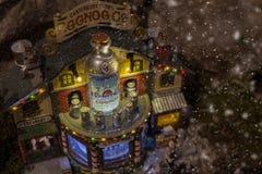 Bożenarodzeniowa wioski miniatura Fotografia Royalty Free