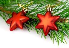 Bożenarodzeniowe dekoraci czerwieni gwiazdy Obraz Royalty Free