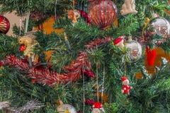 Bożenarodzeniowe dekoracje od drzewa Zdjęcie Stock