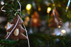Bożenarodzeniowe dekoracje - Piernikowy drzewo Obrazy Stock