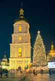 Bożenarodzeniowe dekoracje w Kijów, Ukraina Obrazy Stock