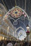 Bożenarodzeniowe dekoracje w Malaga, Hiszpania zdjęcia royalty free