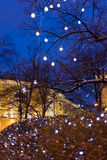 Bożenarodzeniowe dekoracje zim drzewa Obrazy Stock