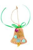 Bożenarodzeniowe handmade zabawki w postaci dzwonu Zdjęcia Stock