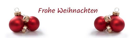 Bo?enarodzeniowe pi?ki z niemieckim tekstem Frohe Weihnachten w angielskich Weso?o bo?ych narodzeniach - zdjęcie royalty free