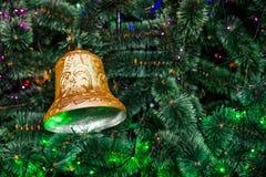 Bożenarodzeniowego dzwonu nowy rok Fotografia Royalty Free