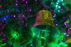 Bożenarodzeniowego dzwonu nowy rok Zdjęcie Royalty Free