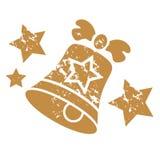 Bożenarodzeniowego dzwonu znaczek Fotografia Stock