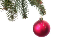 Bożenarodzeniowej dekoraci sfery balowy czerwony kolor dla dekoruje w h Zdjęcie Stock