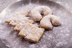 Bożenarodzeniowi ciastka Fotografia Royalty Free