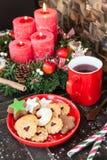 Bożenarodzeniowi ciastka i herbata Obraz Stock