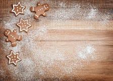 Bożenarodzeniowi ciastka, miodownik Fotografia Royalty Free