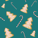 Bożenarodzeniowi cukierki tapetowi obraz royalty free