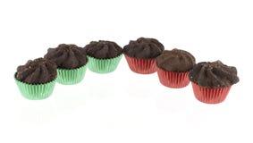 Bożenarodzeniowi czekoladowi ciastka Zdjęcie Royalty Free
