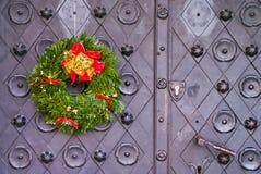 Bożenarodzeniowi drzwi Zdjęcie Royalty Free