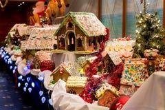 Bożenarodzeniowi Imbirowi chlebów domy Zdjęcia Stock