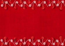 Bożenarodzeniowi lizaków ornamenty na rewolucjonistka Textured tle Obrazy Royalty Free