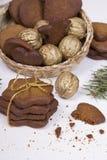 Bożenarodzeniowi miodowników ciastka Zdjęcia Stock
