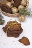 Bożenarodzeniowi miodowników ciastka Obrazy Stock