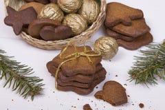 Bożenarodzeniowi miodowników ciastka Zdjęcie Stock