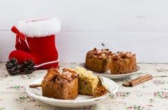 Bożenarodzeniowi muffins Zdjęcia Stock
