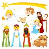 Bożenarodzeniowi narodzenie jezusa elementy Zdjęcie Stock