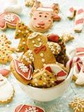 Bożenarodzeniowi piernikowi ciastka zdjęcie royalty free