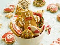 Bożenarodzeniowi piernikowi ciastka obraz stock
