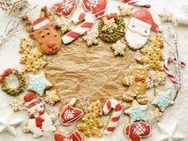 Bożenarodzeniowi piernikowi ciastka zdjęcia royalty free