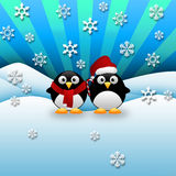 Bożenarodzeniowi pingwiny obraz royalty free