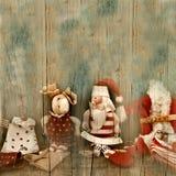 Bożenarodzeniowi powitania, rocznik Santa Fotografia Stock